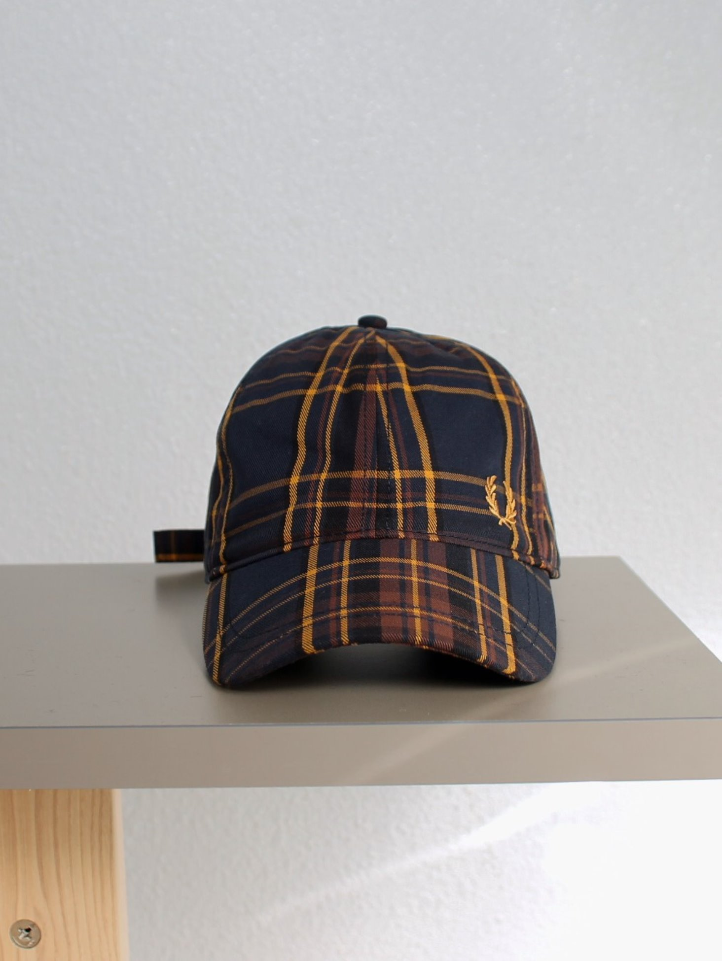 [FRED PERRY] Winter Tartan Cap - Midnight Blue