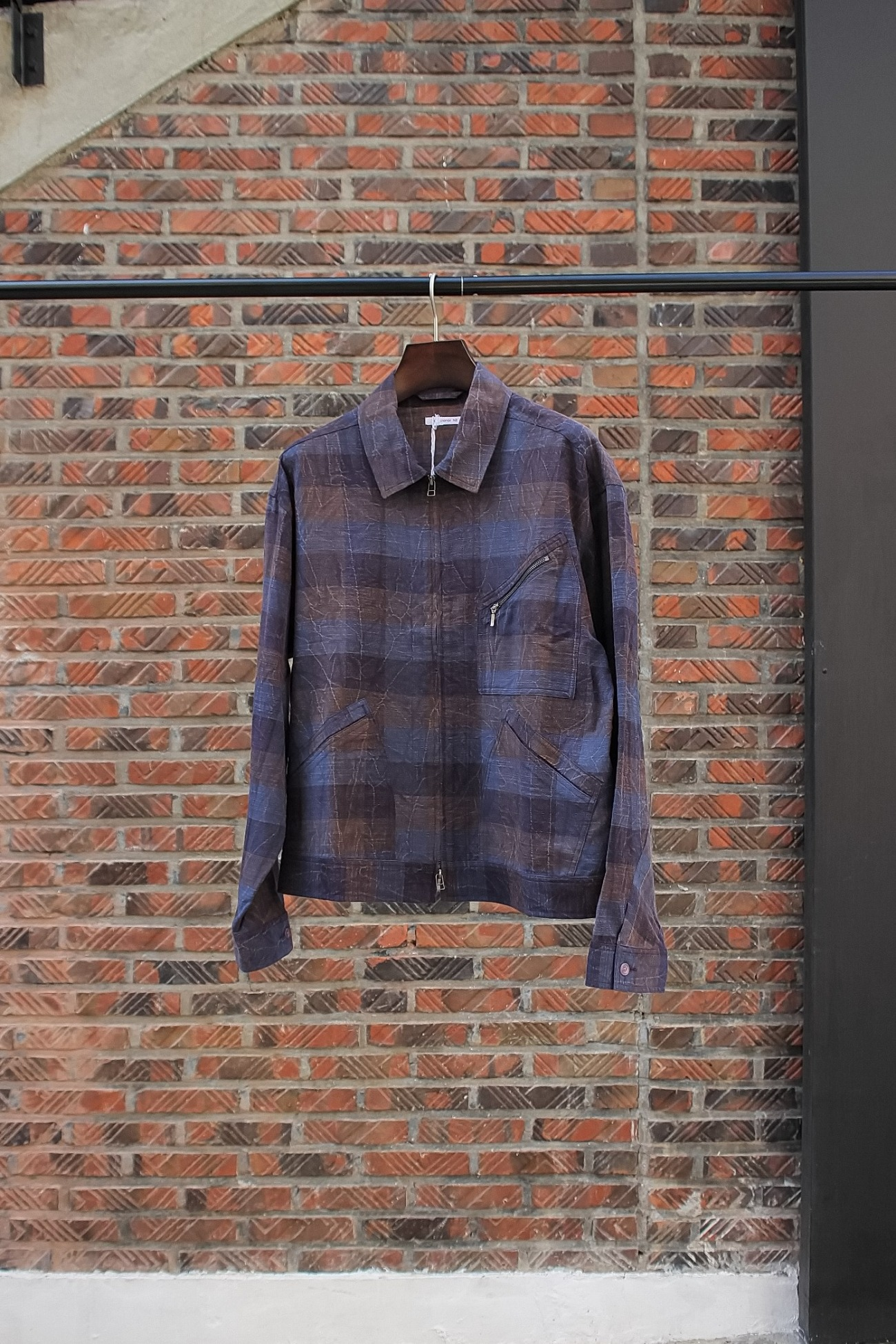 [s.k. manor hill] Buddy Jacket - Blue & Purple Plaid