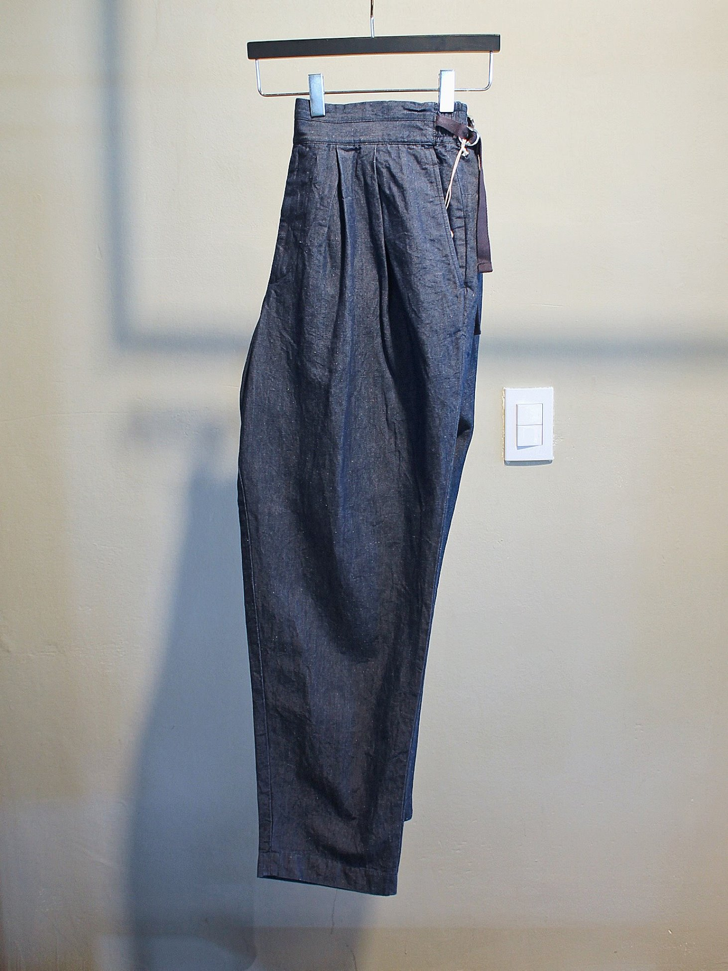 [SAYATOMO] Karusan Denim Pants (Navy)