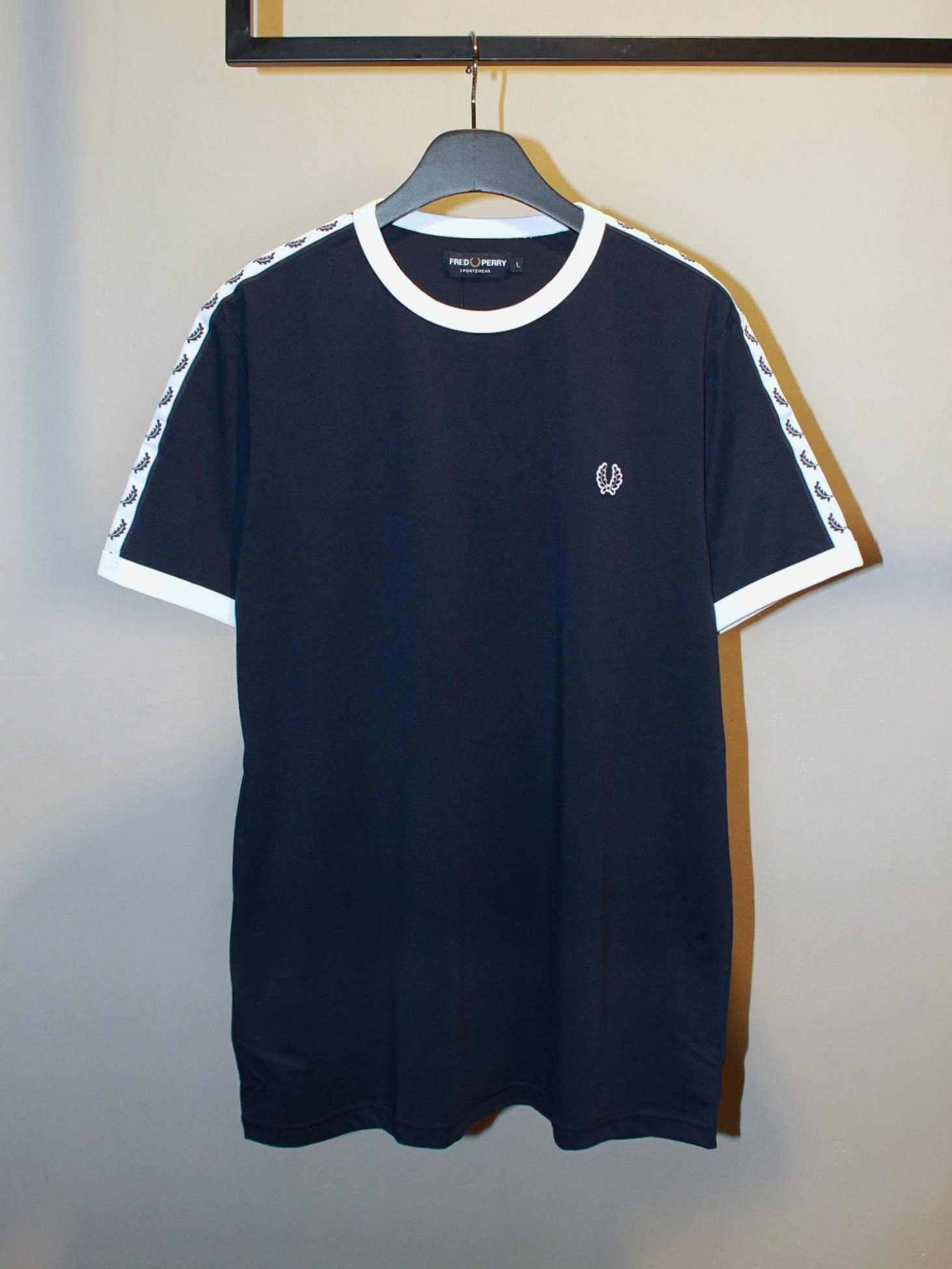[Fred Perry] Taped Ringer T-Shirt - Carbon Blue