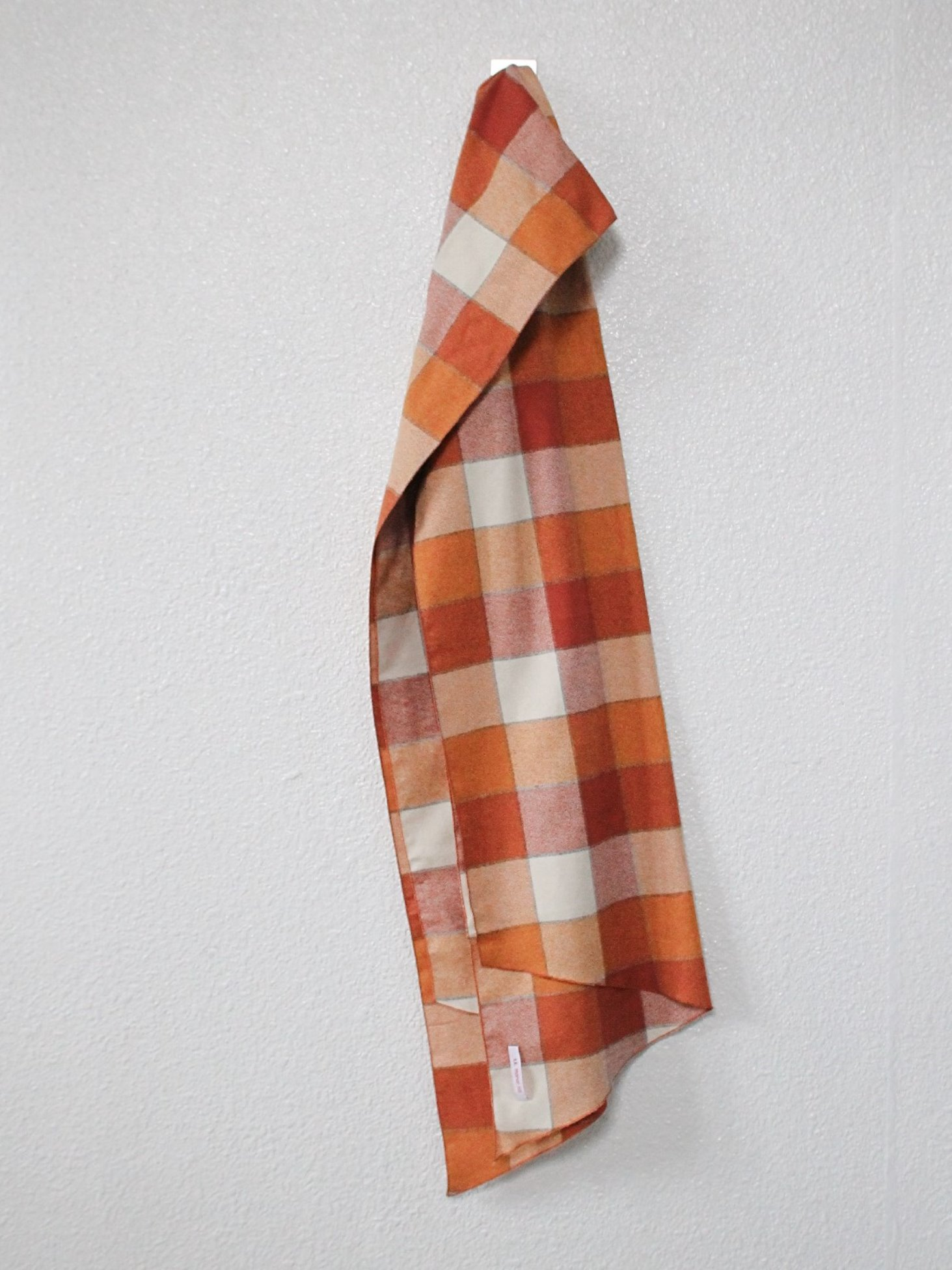 [s.k. manor hill] Long Scarf - Orange Plaid Flannel