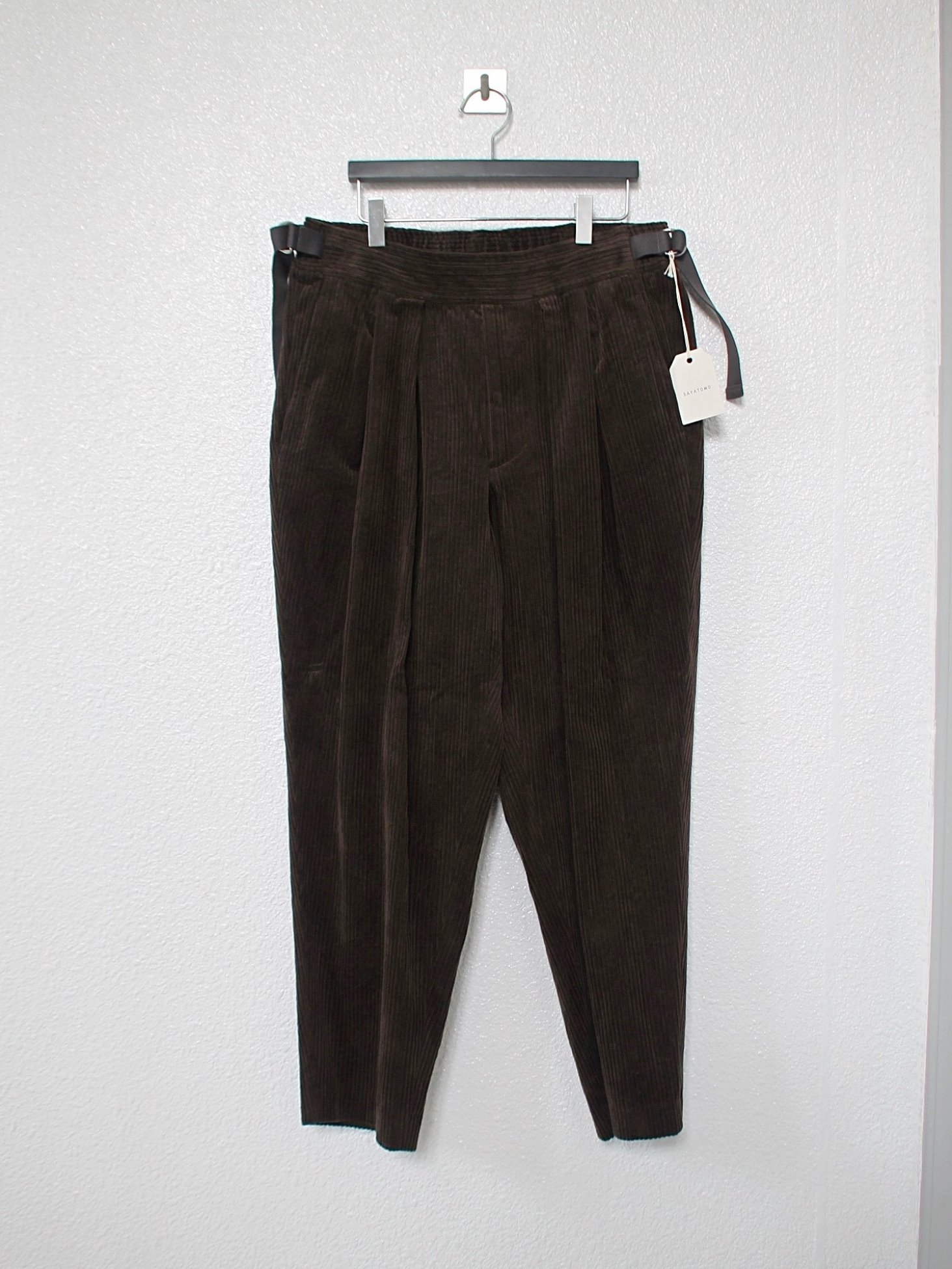 [SAYATOMO] Karusan Corduroy Pants - Brown