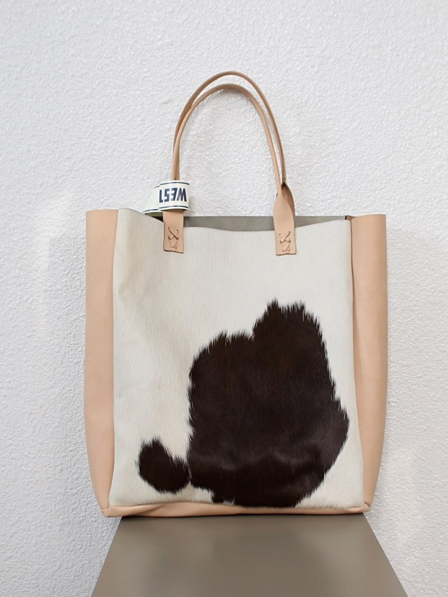 [WESTOVERALLS] Fur & Leather Bag - Brown Pony