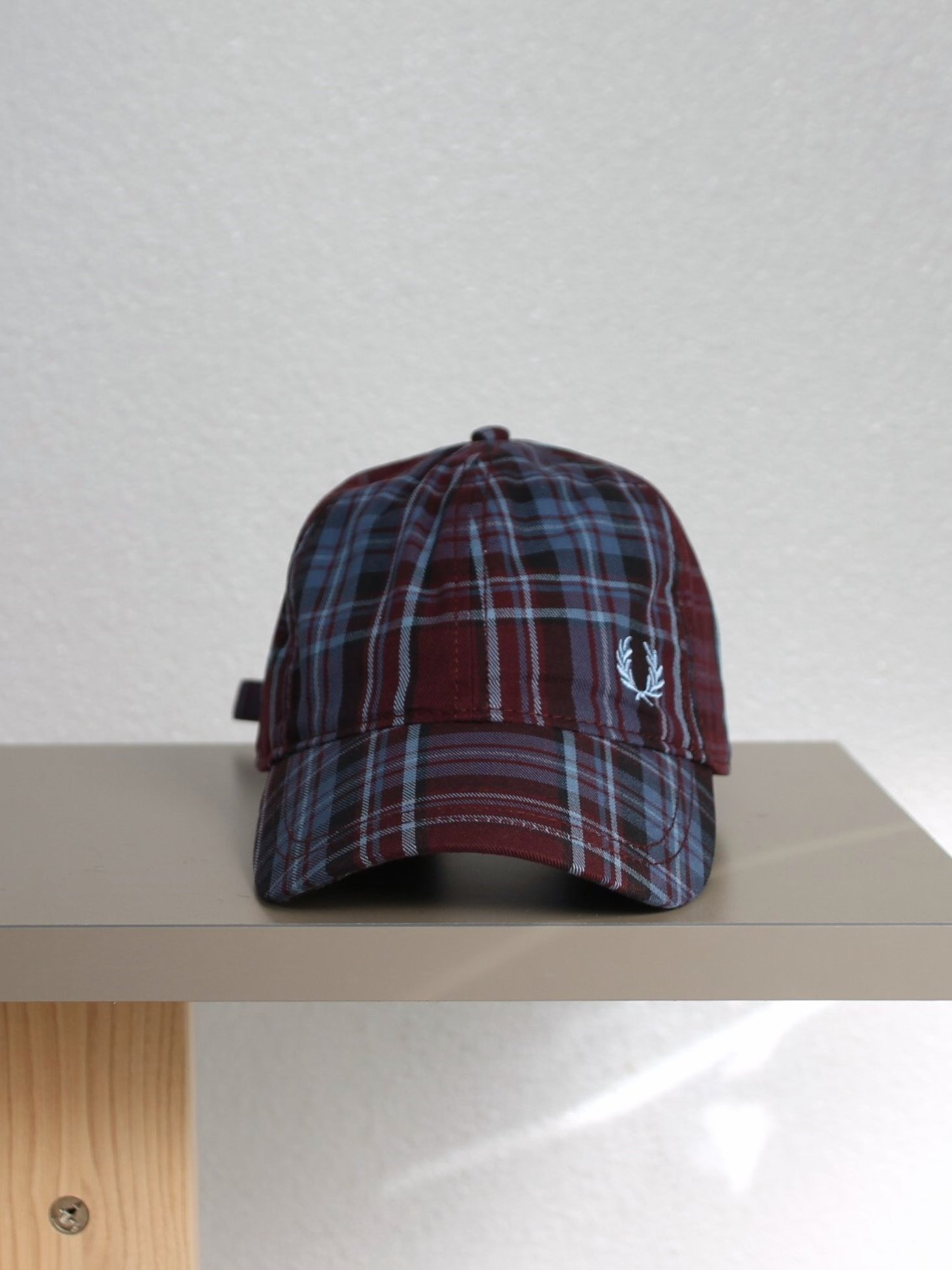 [FRED PERRY] Winter Tartan Cap - Mahogany