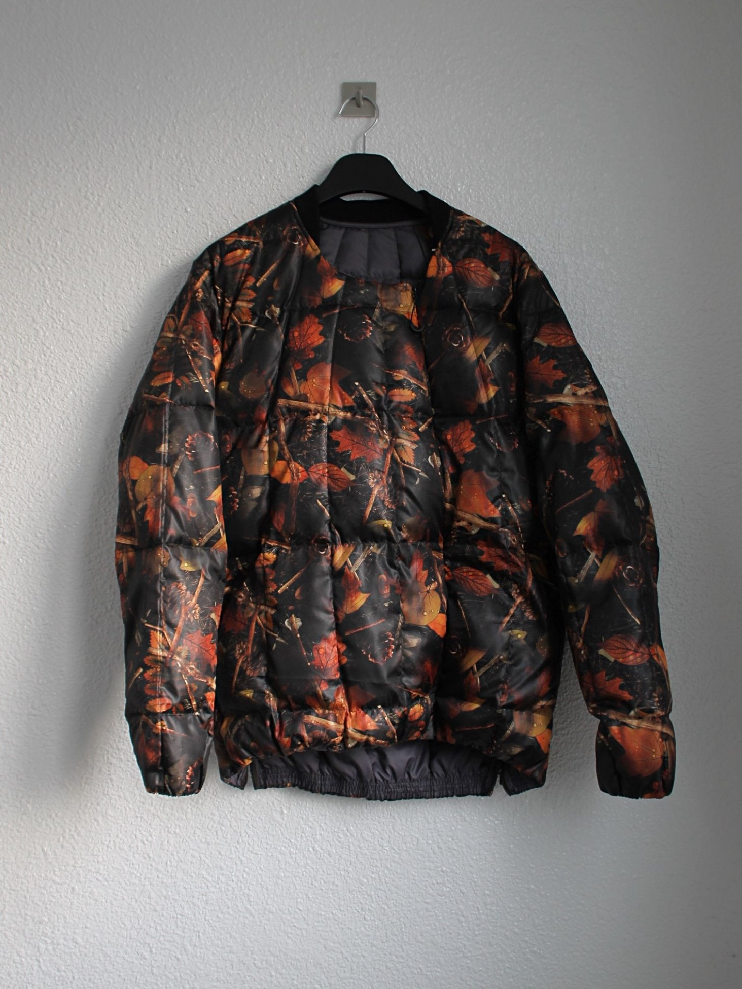 [Norbit] Ventilation Side Slit Inner Down Jacket - Print