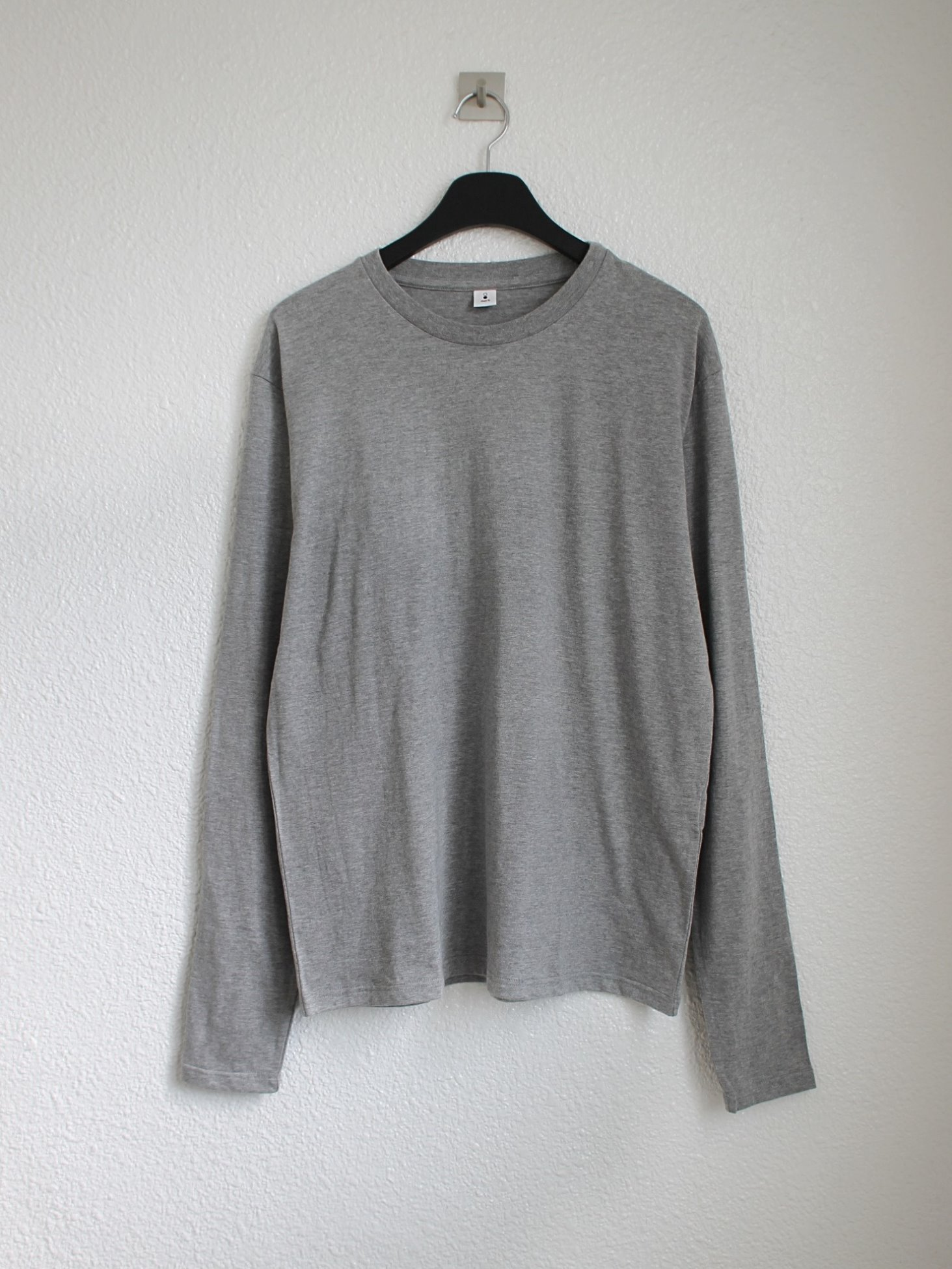 [mocT] JS040 Crew Neck Long T-Shirt - GR7