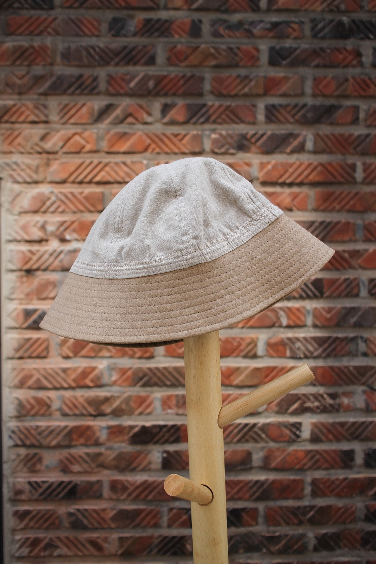[EASY TO WEAR] Linen Canvas Hat - Natural