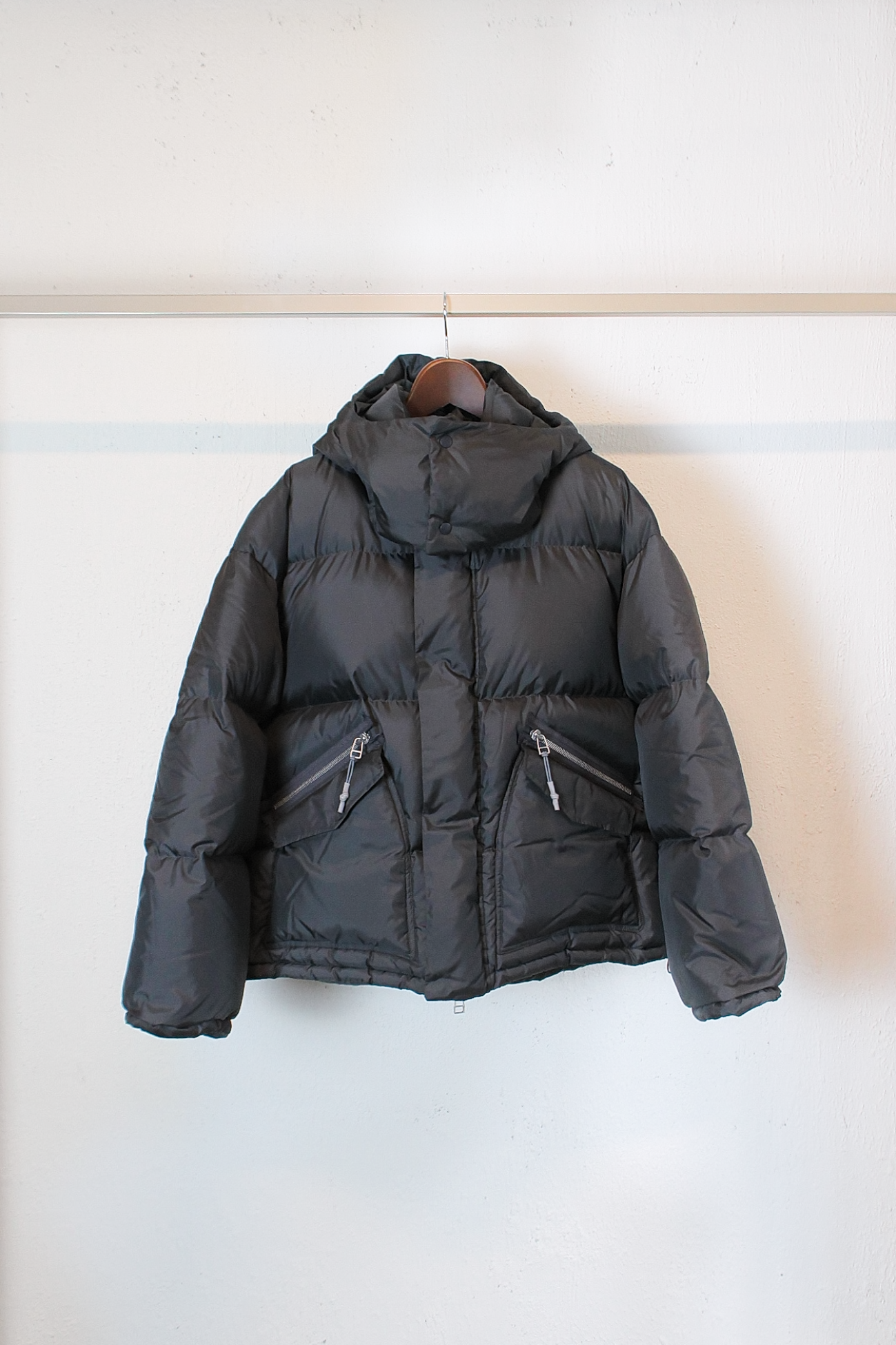 [Name.] Ripstop Oversized Down Jacket - Charcoal